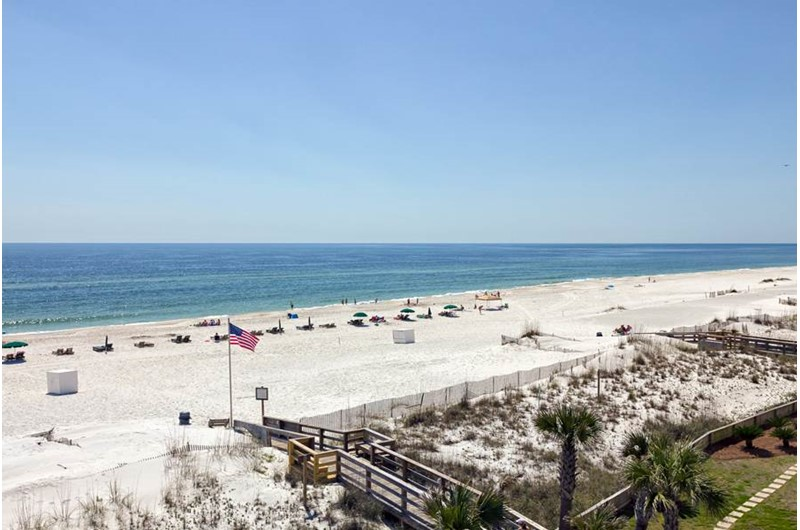 Walk out your condo and take a stroll down the beach from Palm Beach Condos in Orange Beach AL