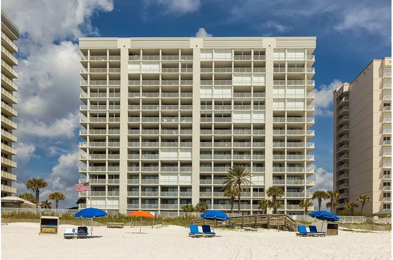 Pelican Pointe is directly on the beach in Orange Beach Alabama