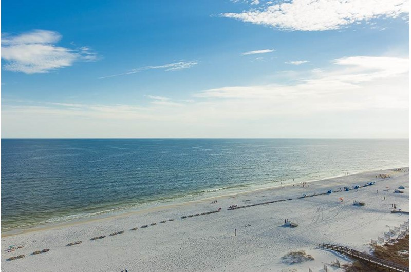 Beautiful view from Pelican Pointe in Orange Beach Alabama