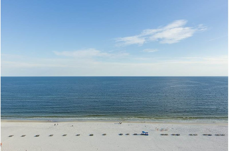 Wide open view of the Gulf from Pelican Pointe in Orange Beach Alabama