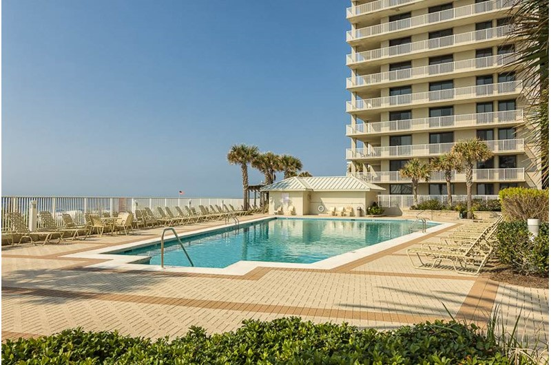 Lovely pool at Pelican Pointe in Orange Beach Alabama