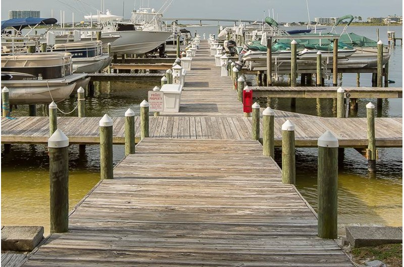 Dock at Perdido Grande in Orange Beach Alabama