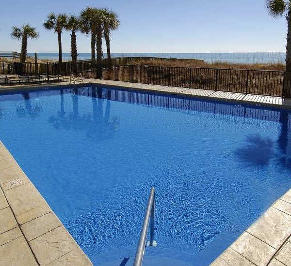 Beachfront pool at Perdido Quay in Orange Beach AL