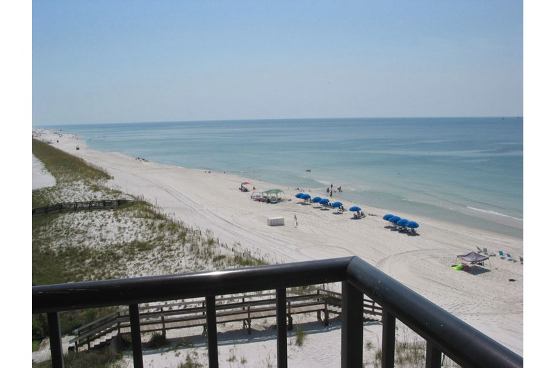 Huge view from balcony at Perdido Quay in Orange Beach Alabama