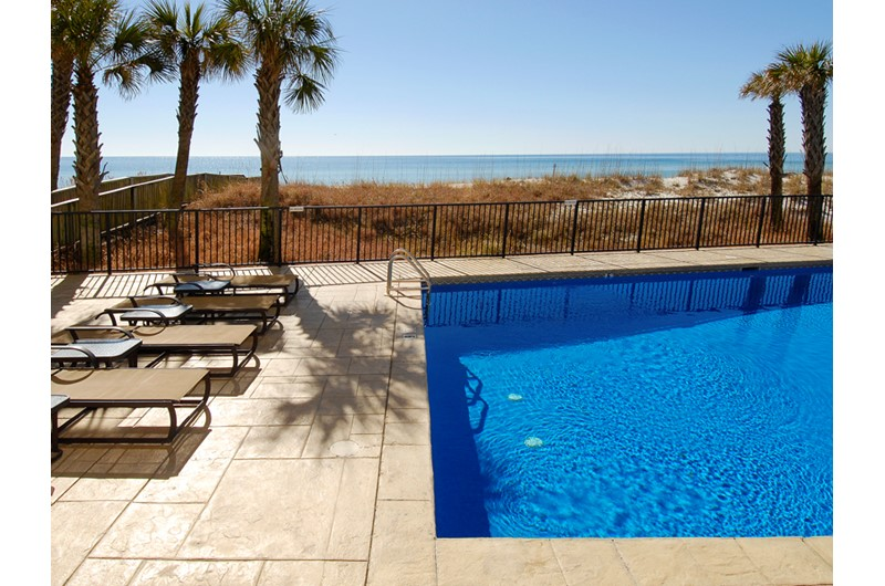 Nice pool directly on the beach at Perdido Quay in Orange Beach Alabama
