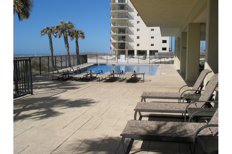 Huge pool deck area at Perdido Quay in Orange Beach Alabama