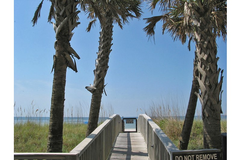 Easy access to the beach from Perdido Quay in Orange Beach Alabama