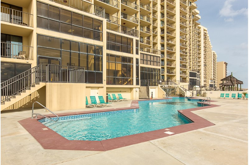 Pool area at Phoenix I in Orange Beach Alabama