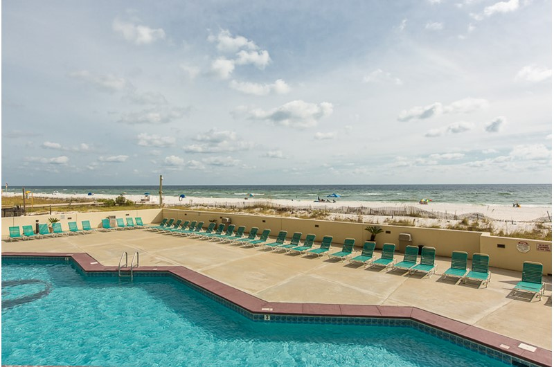 Pool overlooking the Gulf in Phoenix I in Orange Beach Alabama