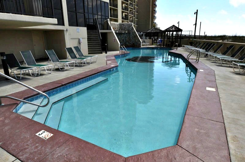 Beachfront pool at Phoenix III in Orange Beach AL