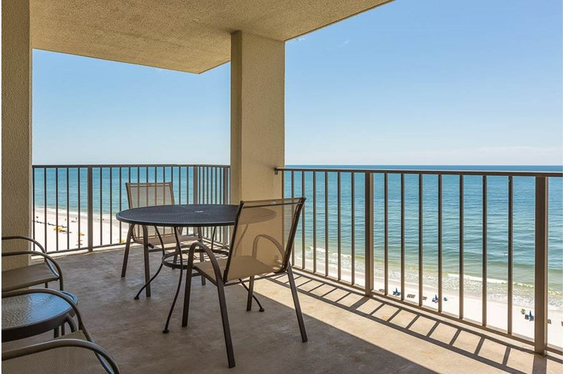 Balcony at Phoenix III in Orange Beach Alabama