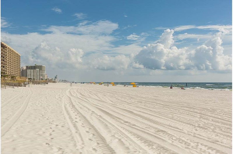 Big view of the beach from Phoenix III in Orange Beach Alabama