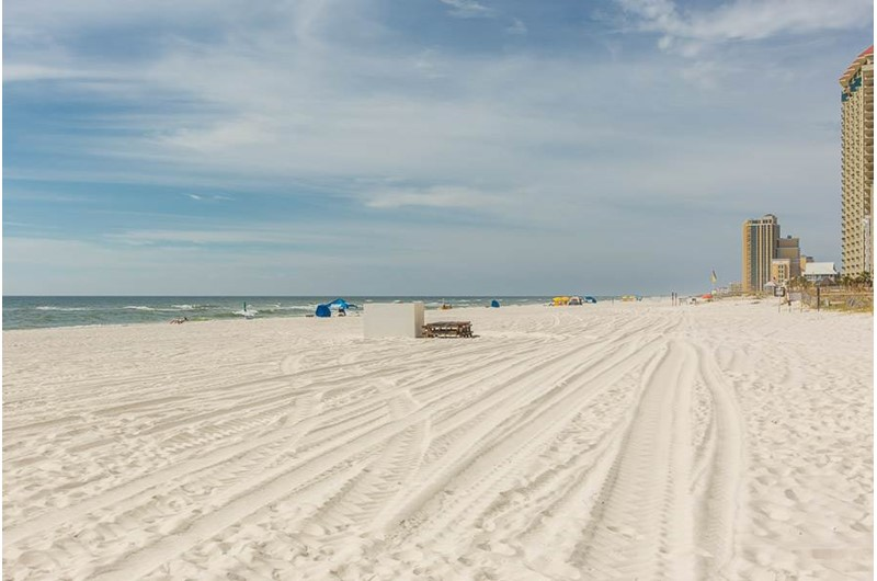Another lovely view of the beach from Phoenix III in Orange Beach Alabama