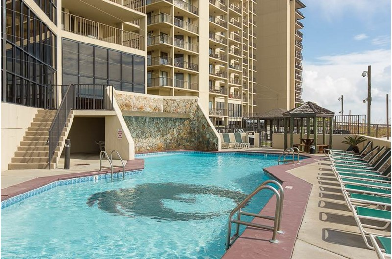 Gulf front pool at Phoenix III in Orange Beach Alabama