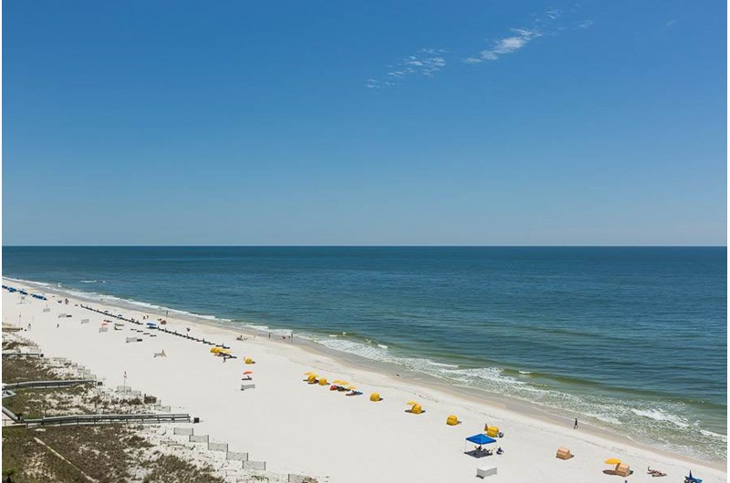 Expansive view from your balcony at Phoenix III in Orange Beach Alabama