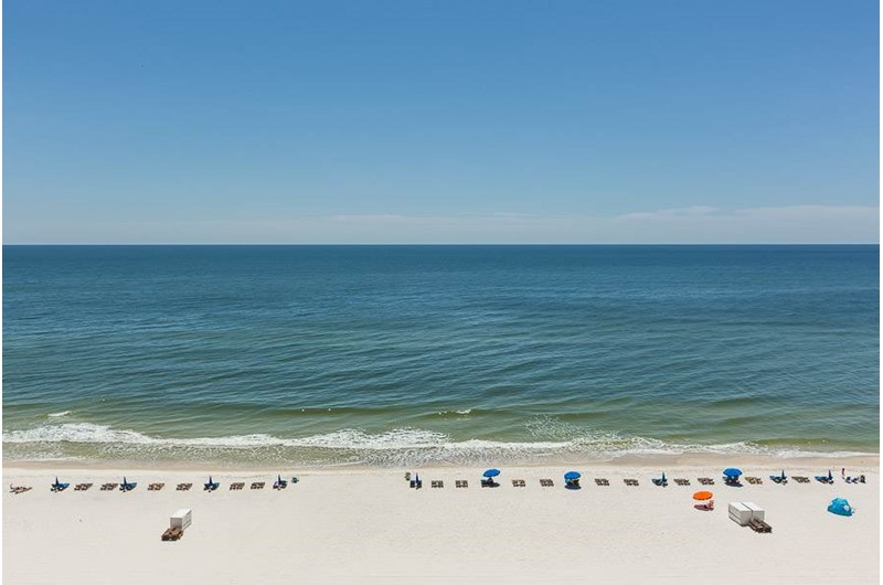 Lovely direct Gulf view from Phoenix III in Orange Beach Alabana