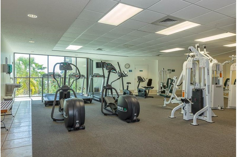 Get your exercise at the gym at Phoenix on the Bay in Orange Beach AL