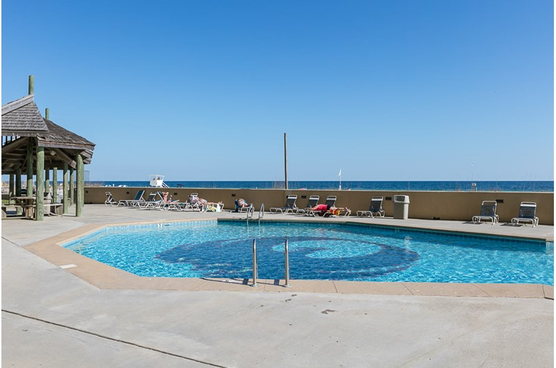 Lovely pool area at Phoenix V in Orange Beach Alabama