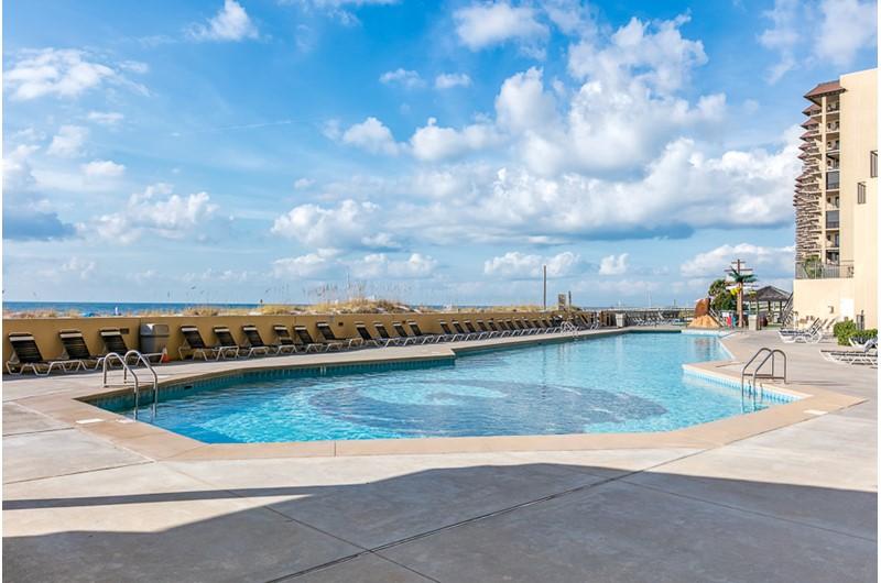 A beautiful pool at Phoenix V in Orange Beach Alabama