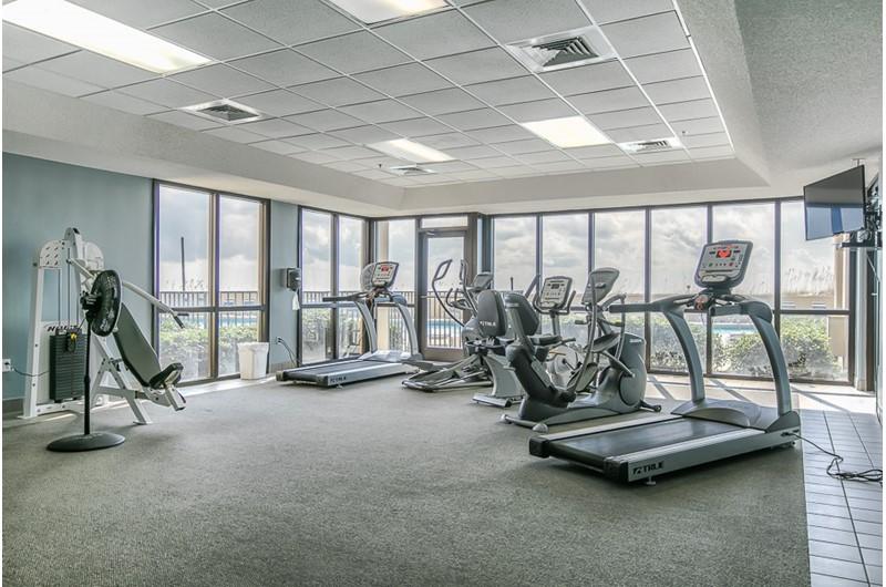 Gym at Phoenix V in Orange Beach Alabama