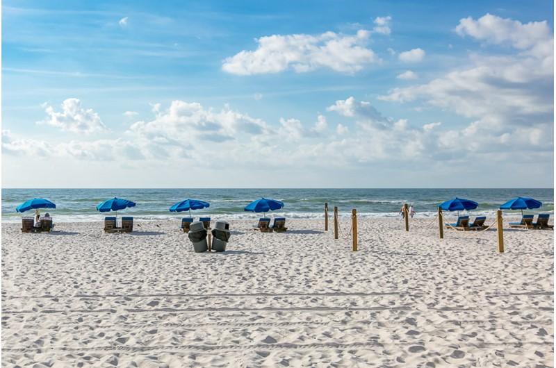 Beach view at Phoenix V in Orange Beach Alabama