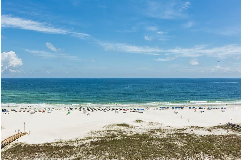 Gorgeous view of the Gulf from Phoenix VI in Orange Beach Alabama