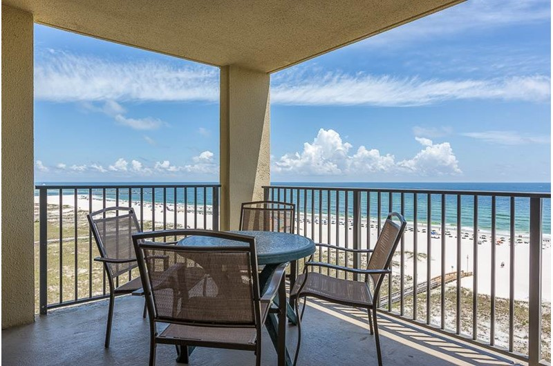 Lovely balcony at Phoenix VI in Orange Beach Alabama