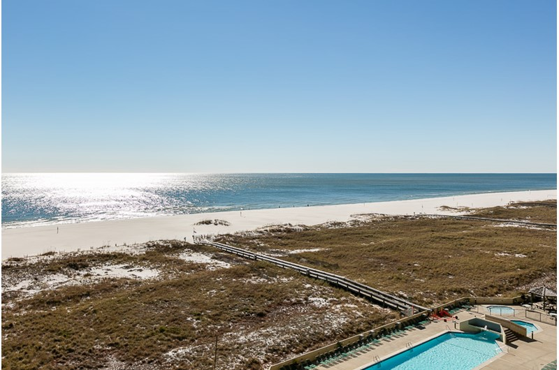 Huge view from your balcony at Phoenix VII in Orange Beach Alabama