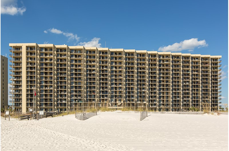 Phoenix VII is directly on the beach in Orange Beach Alabama
