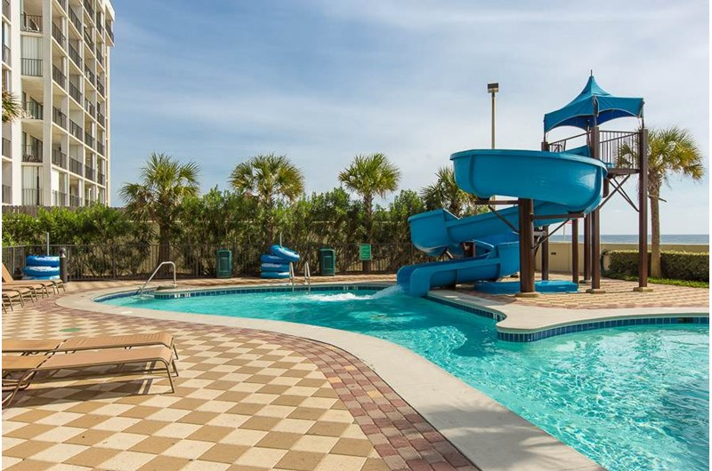 Beachfront pool at Phoenix West in Orange Beach AL