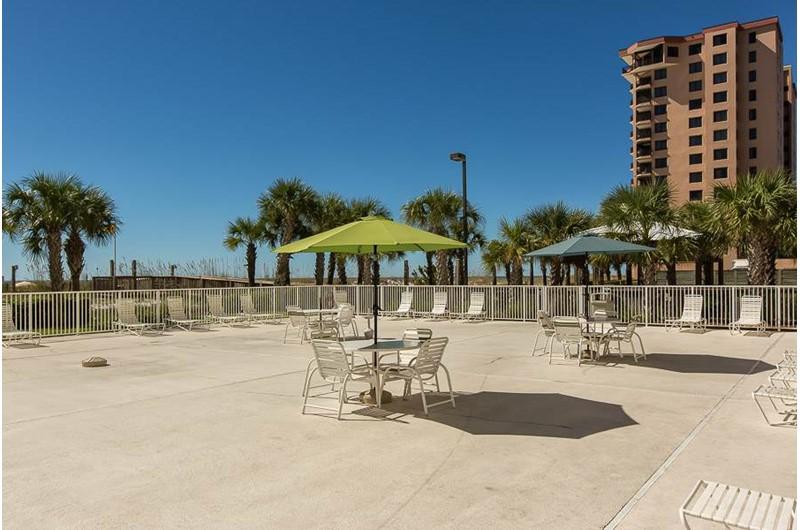 Massive pool deck give everyone plenty of room at Regency Isle in Orange Beach AL