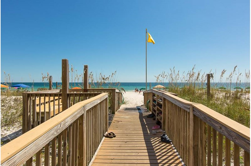 Easy access to the beach from Regency Isle in Orange Beach AL