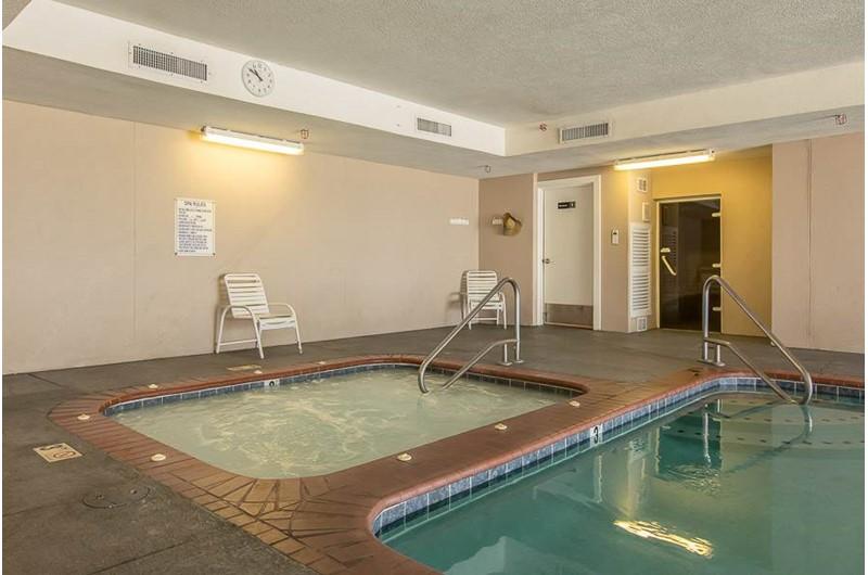 Indoor hot tub at Regency Isle in Orange Beach AL
