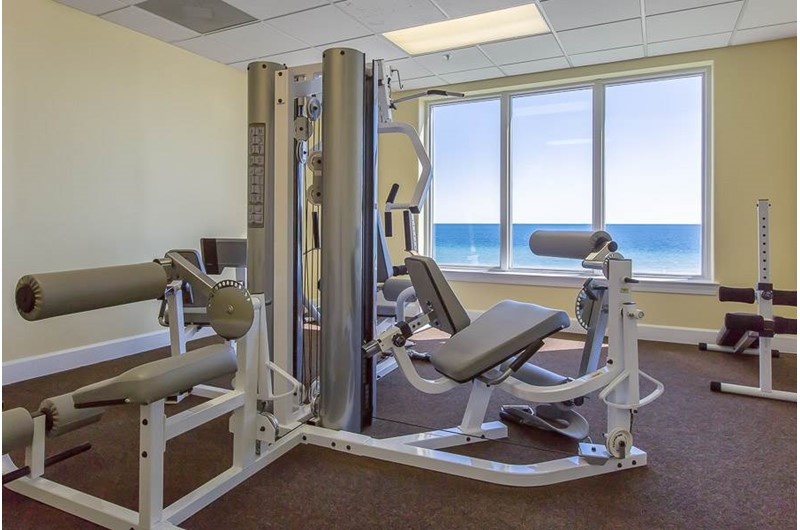 All the workout equipment for getting fit at Regency Isle in Orange Beach AL