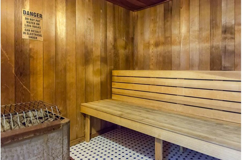 Relaxing sauna at Regency Isle in Orange Beach AL