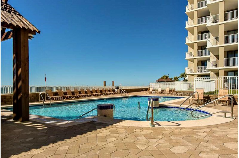 Beachfront pool at Romar Place in Orange Beach AL