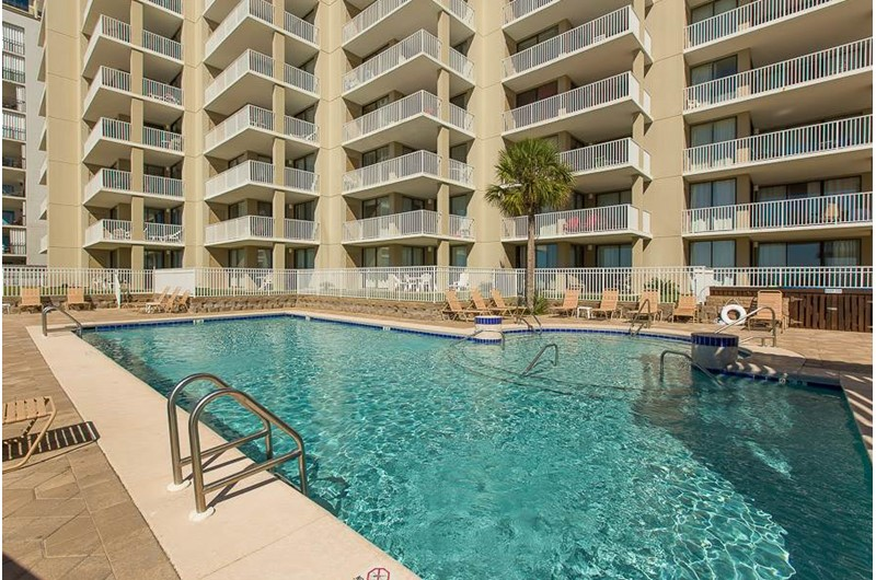 Plenty of room for everyone in the pool at Romar Place in Orange Beach AL
