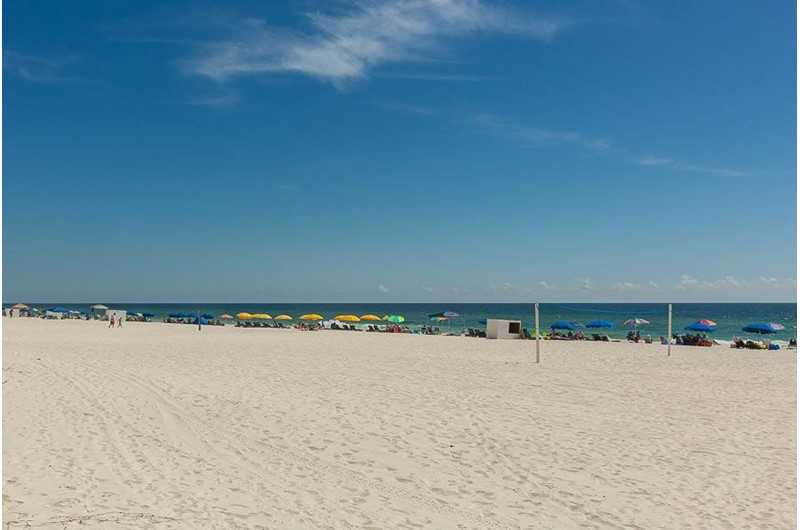 Gorgeous beach at Romar Place in Orange Beach AL