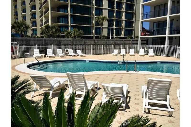 Beachfront pool at Romar Tower in Orange Beach AL