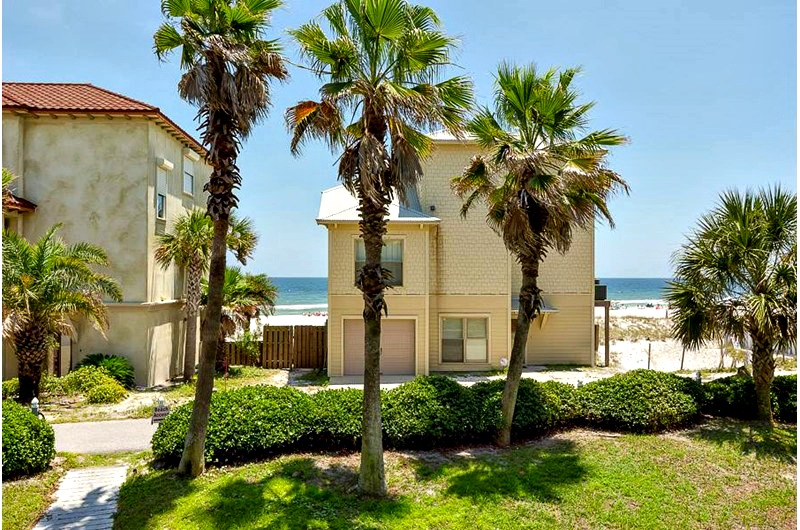 Beachfront exterior of Seascape in Orange Beach AL