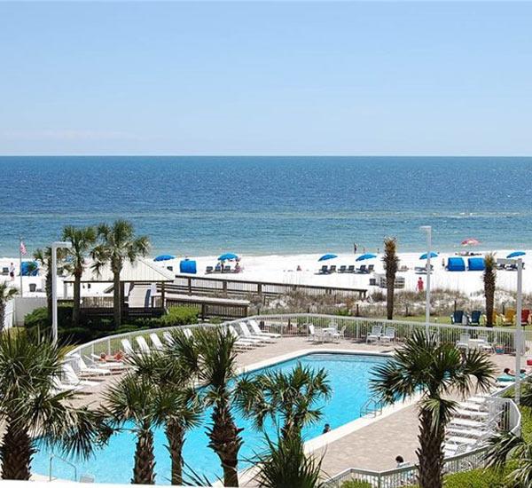 Beachfront pool at Seaside Beach and Racquet Club in Orange Beach Alabama