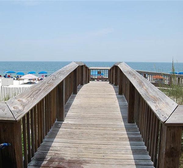 Beach boardwalk at Seaside Beach and Racquet Club
