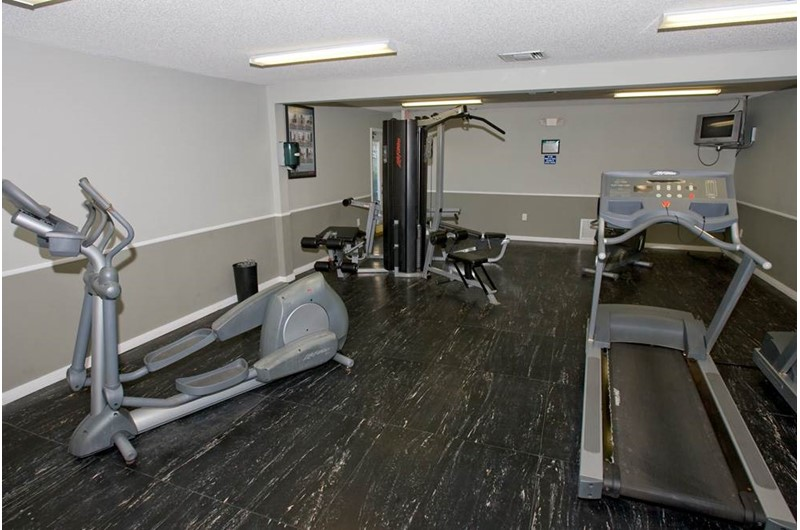Enjoy a good workout in the gym at Seaside Beach and Racquet in Orange Beach AL