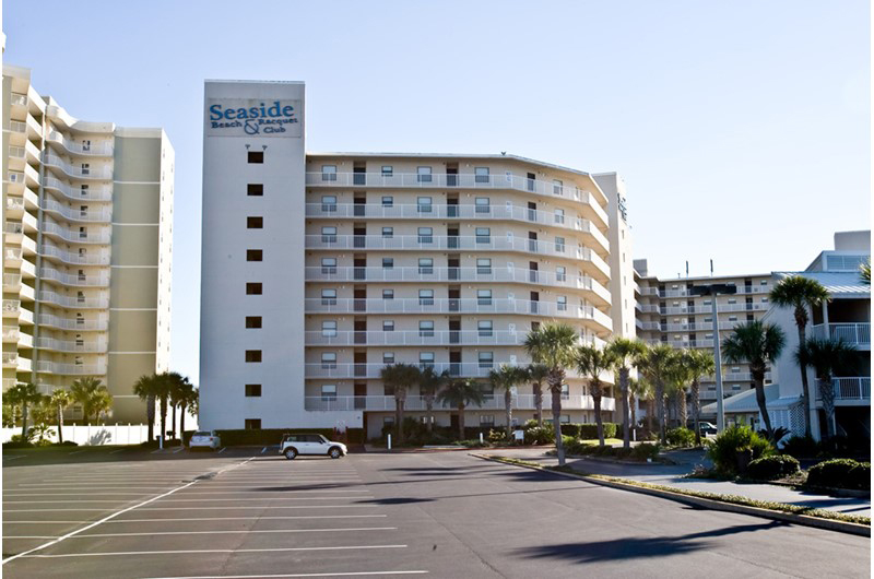 Seaside Beach and Racquet Club in Orange Beach AL is directly Gulf front