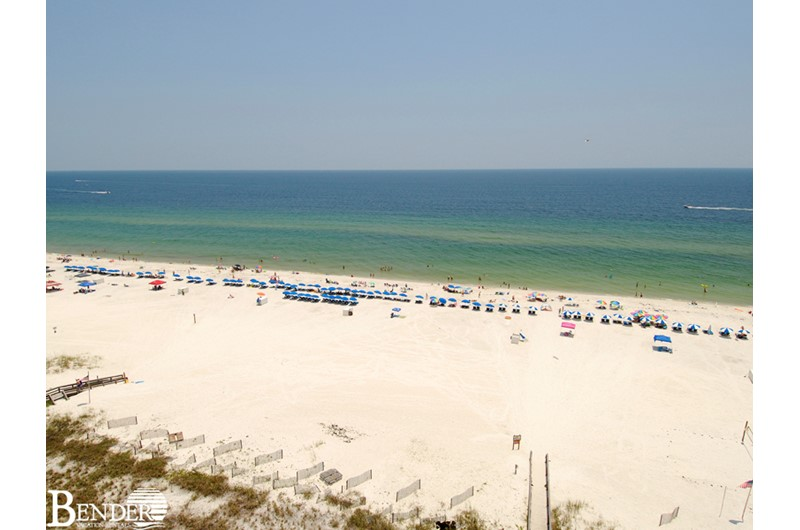 See for miles down the coast from Shoalwater in Orange Beach AL