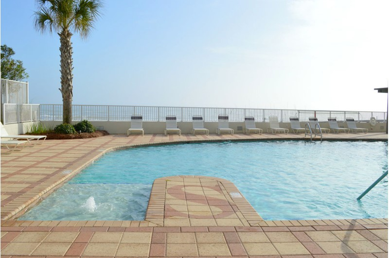 Enjoy a swim and a view of the Gulf at Shoalwater in Orange Beach AL