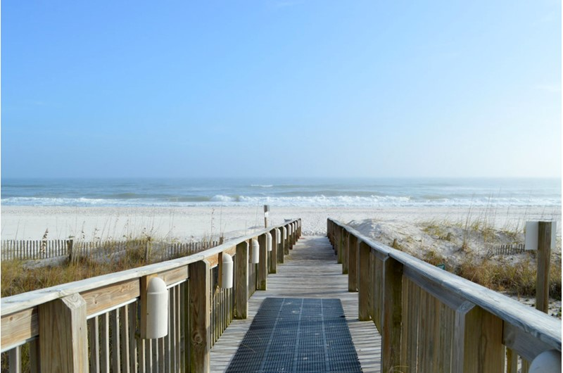 Easy access to the beach from Shoalwater in Orange Beach AL