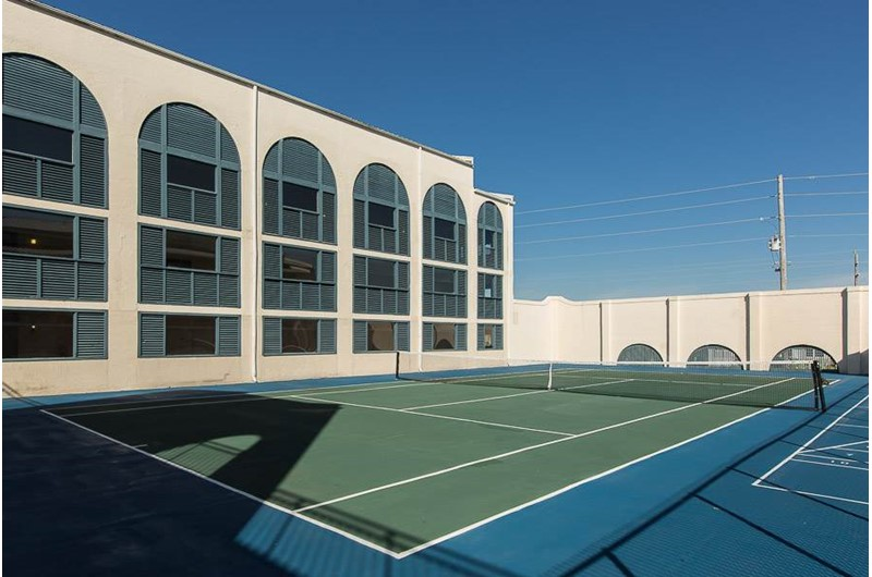 Enjoy a round of tennis at Sugar Beach in Orange Beach AL