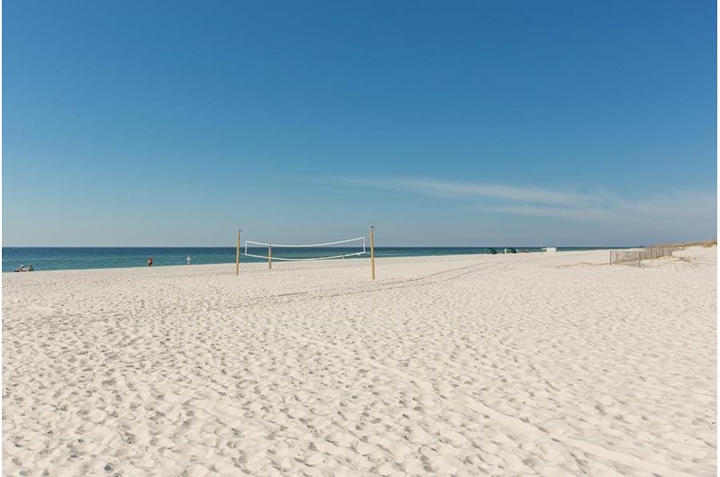 Gorgeous sand beach in front of Sugar Beach in Orange Beach AL