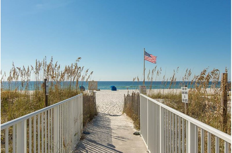 Easy access to the beach from Sugar Beach in Orange Beach AL